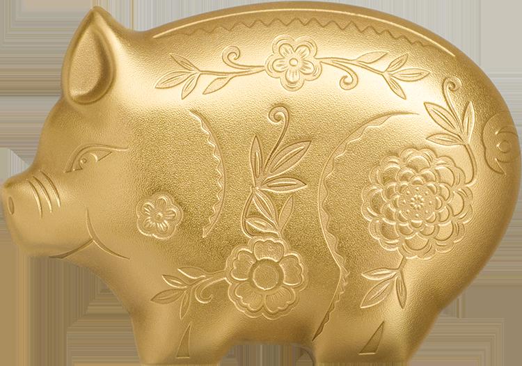 Goldenes Glücksschweinchen