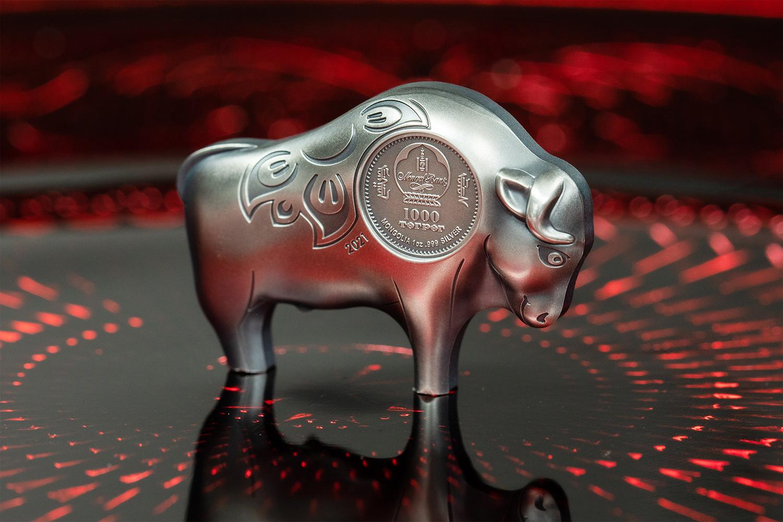 Tierkreiszeichen Büffel – Silbermünze